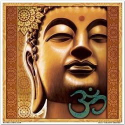 Mandala zlatý Budha 18x18cm