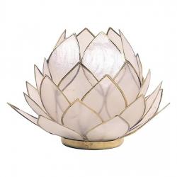 Svietnik lotos biely veľký